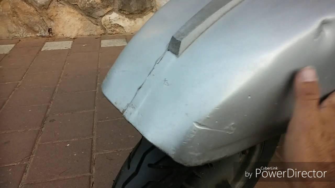Vespa px200 fender repair