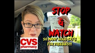 CVS STOP 🛑 & WATCH VIDEO  | LOT'S OF UPCOMING FREEBIES | MUST HOLD CRT'S 7/21 😱