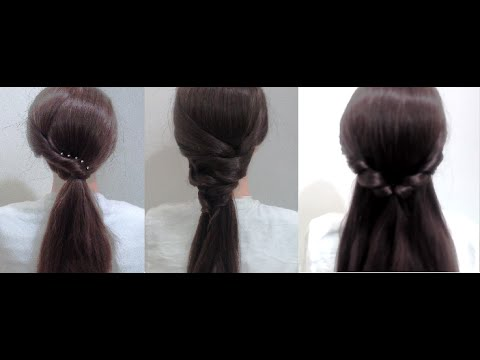 4 Cute and Easy Hairstyles for medium hair