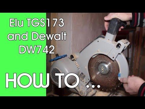 ELU TGS173 Saw Blade Cover Fix