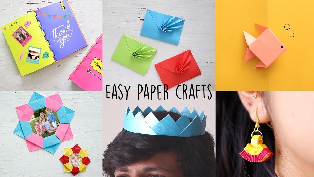 6 Easy Paper Craft Ideas Diy Videos Ventuno Art Youtube