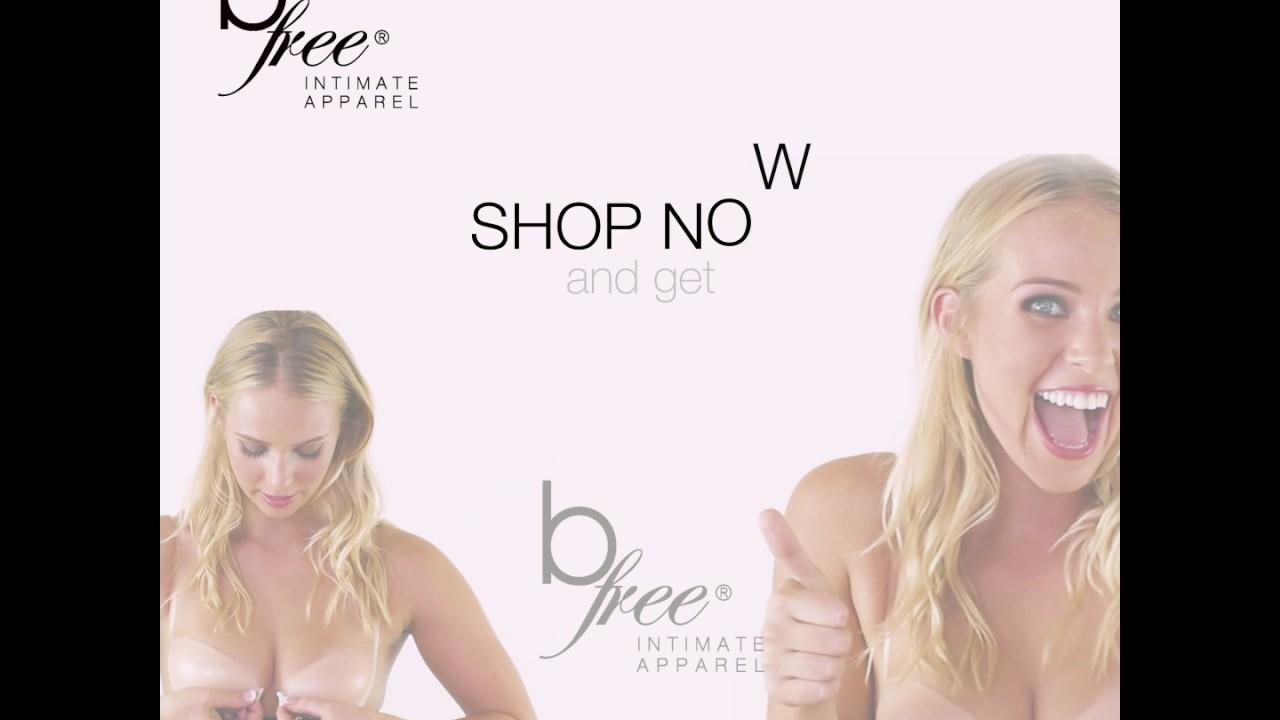 bfa2b25079 B Free - Stick on Bra - Cleavage - YouTube