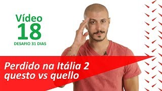 Frases uteis em italiano: perdido na Itália 2