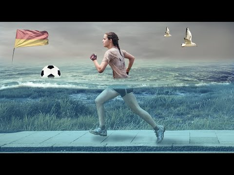 Sport under water effect photo manipulation | photoshop tutorial cs6/cc