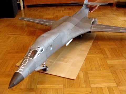 B-1B Lancer model kartonowy (paper model) (cz.2) - YouTube