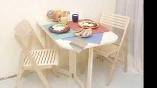 видео Раскладной деревянный стол для кухни своими руками