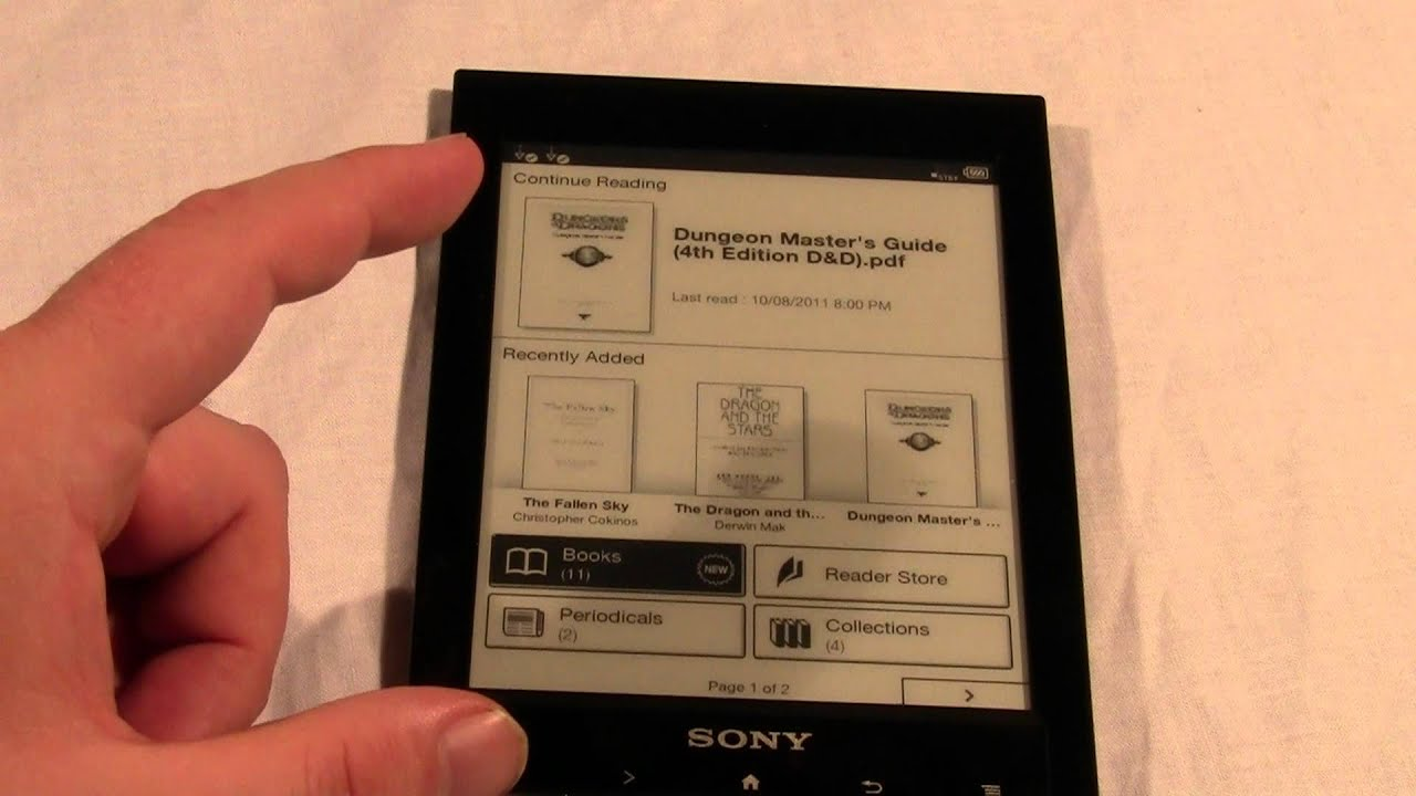 how newspapers magazines and pdf files look on the sony prs t1 rh youtube com Pocket PRS Edition Reader Sony 300Rc Reset Sony PRS-T1