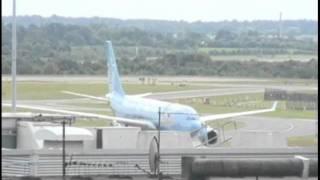 Manchester City plane lands