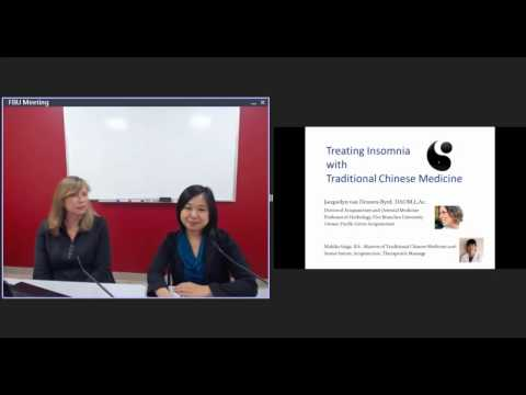 [07/18/2016]TCM Webinar: TCM Treatments for Insomnia