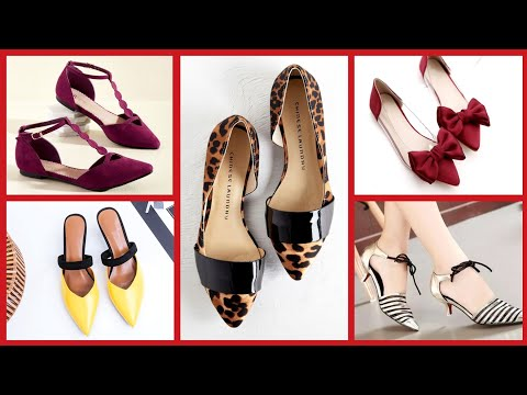 Most Running And Stunning Ballet Flat Shoes And Peep-toe Flat Pumps For Office And Working Women