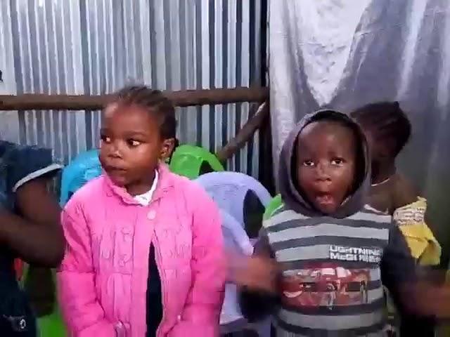 Children Worshipping Jesus - Kibera Slum Kenya
