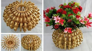 Flower Vase Out Of Waste Newspaper / DIY Best Out Of Waste Idea