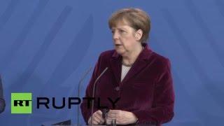Germany: Merkel and Polish PM outline responses to refugee crisis, UK referendum