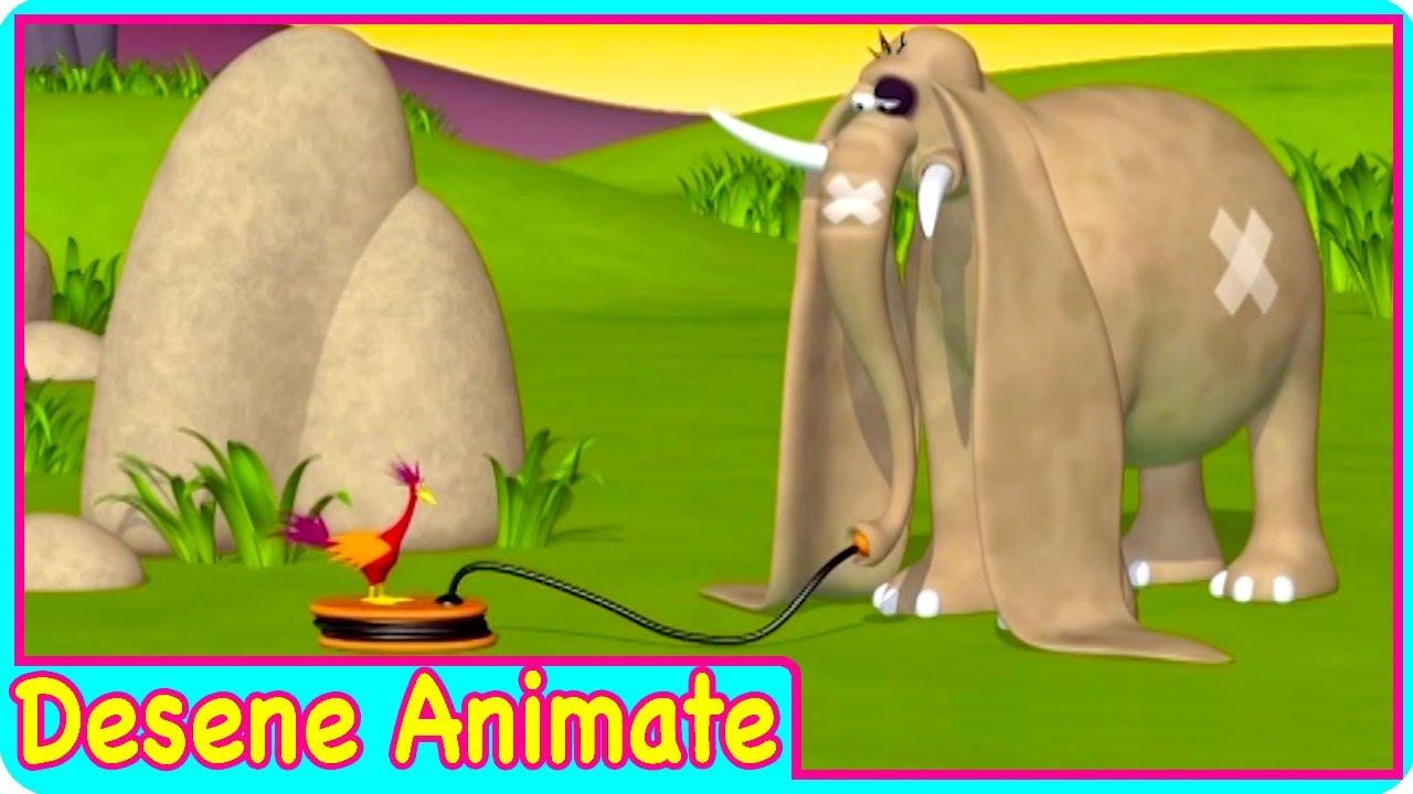 Desene animate in romana GAZUN elefantul amuzant episod nou DORINTA DE A ZBURA desene pentru copii