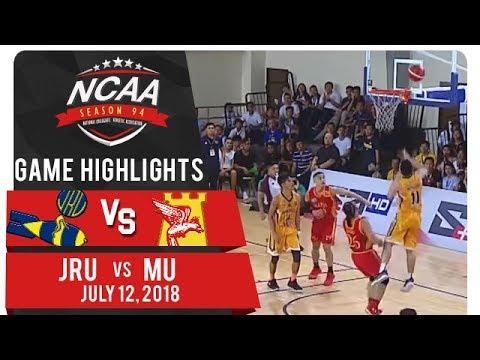 NCAA 94 MB: JRU vs. MU | Game Highlights | July 12, 2018