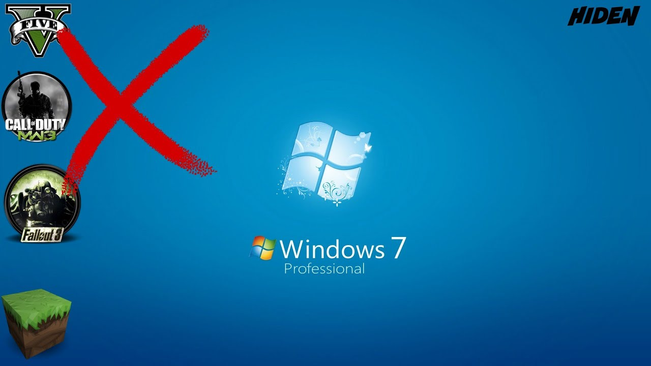 Windows 7 Default Desktop Icons How To Hide Desktop Ic...