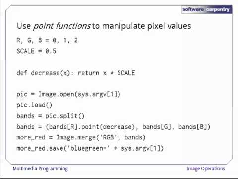 Multimedia Programming - Episode 3 - Image Operations