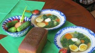 Рецепт: легкий крапивный суп. Суп из крапивы с яйцом и сметаной.