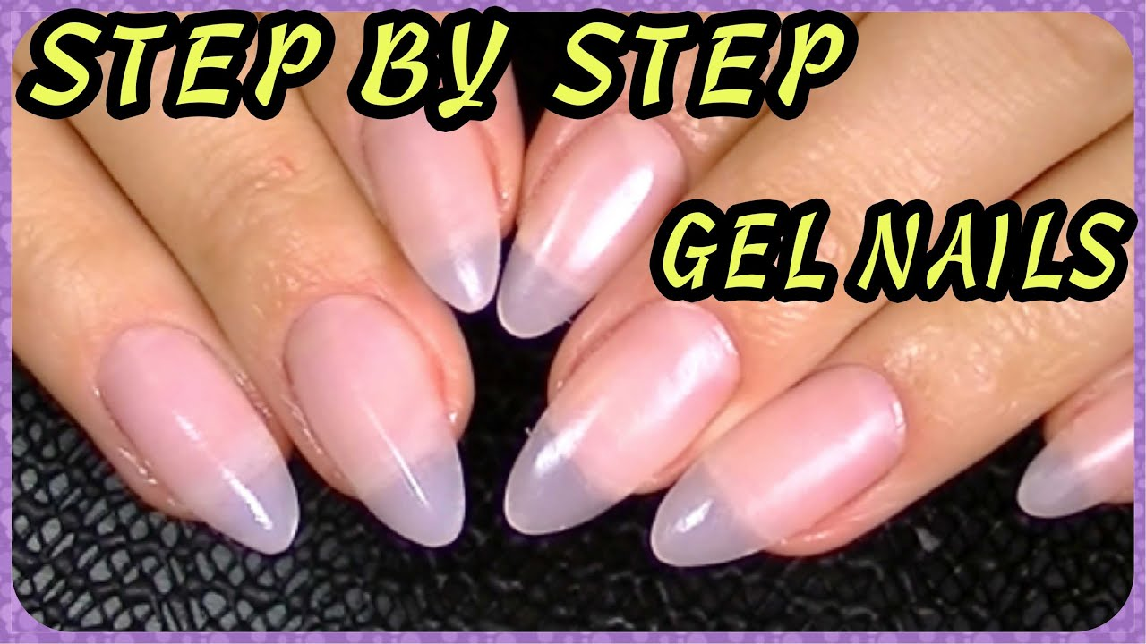 How to Oval, Almond-Shaped, Stiletto Nails How I Do My Gel Nails ...