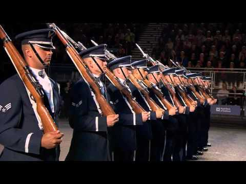 The United States Air Force Honour Guard - Edinburgh Military Tattoo 2015