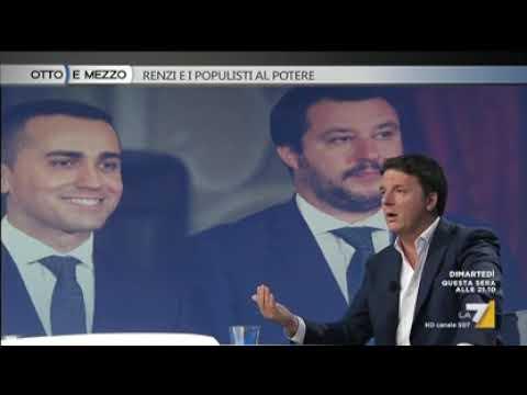 Matteo Renzi a Otto e Mezzo con Lilli Gruber - puntata del 26/9/18