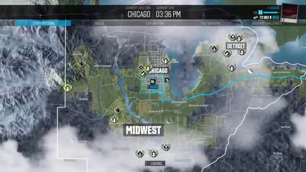 The Crew Chicago To New York Drive YouTube - Chicago map gps