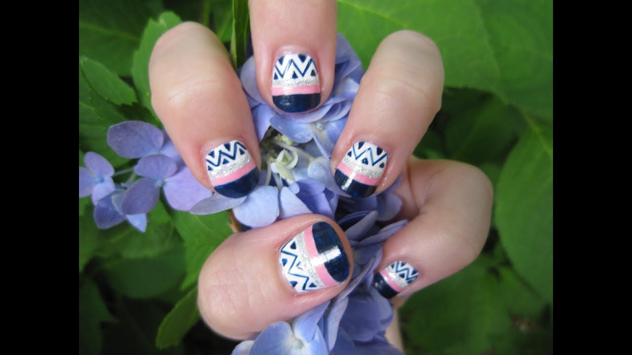All About Lines Nail Art Tutorial - YouTube