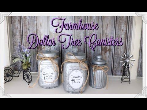 FARMHOUSE DOLLAR TREE CANISTERS