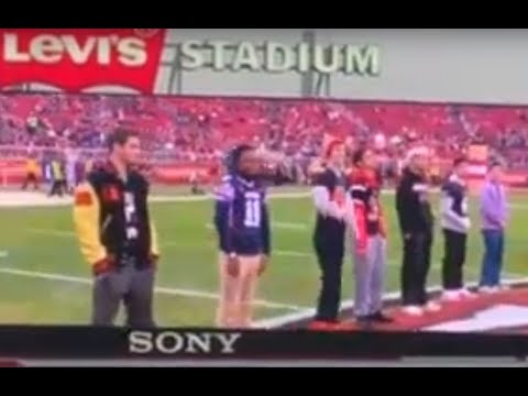 Kevin Grant honored at 49ers game for POW - pregame introductions