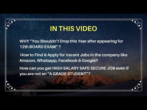 """How can you get HIGH SALARY SAFE SECURE JOB even if you are not an """"A GRADE STUDENT""""?"""