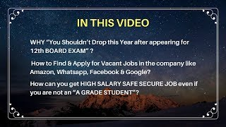 "How can you get HIGH SALARY SAFE SECURE JOB even if you are not an ""A GRADE STUDENT""?"