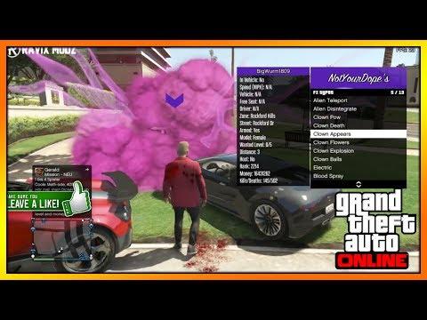 GTA ONLINE - FREE MOD MENU Test / Showcase PS3 NotYourDope's SCRIPT MENU + DOWNLOAD