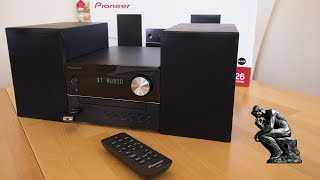 Pioneer X-EM26 micro system with bluetooth unboxing and test