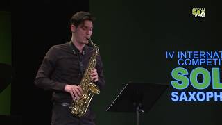 MICHELE D'AURIA – FIRST ROUND – IV ANDORRA INTERNATIONAL SAXOPHONE COMPETITION 2017