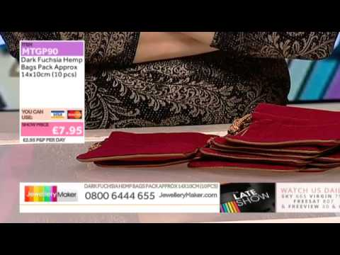Champagne Pearls and Songea Sapphire for jewellery maker:JewelleryMaker late show LIVE 15/12/2014