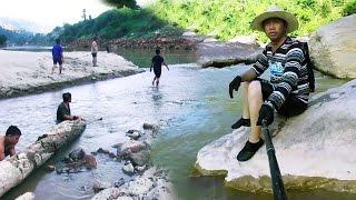 2016 Net Casting & barehand fishing. Txhom Ntses PajCab 2.  P2