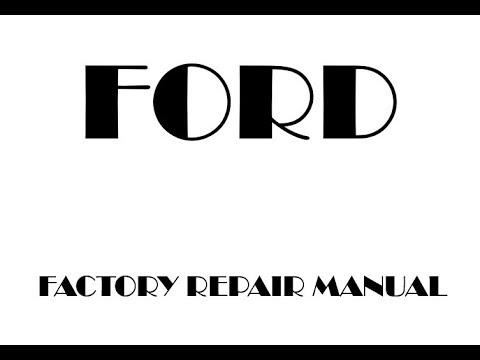 Ford Flex Factory Repair Manual 2015 2014 2013 - YouTube