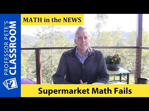 K-6 Math in the News: Supermarket Math Fails