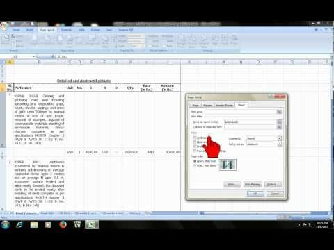 Microsoft Excel Shortcut : Header Footer, Rows Repeat, Print Preview (2 Of 5)