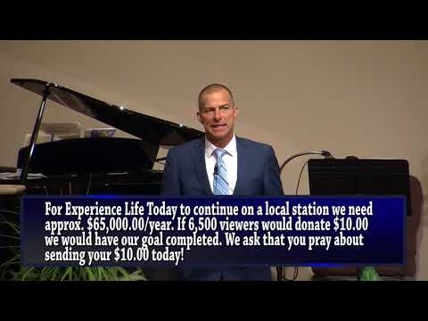 Last Show on T.V. - Experience Life today w/Reuben Egolf