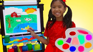 Download Wendy and Alex Pretend Play with Drawing with Kids Painting Toys Mp3 and Videos