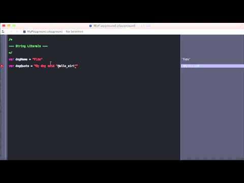 28. String Literals | Swift Course on Udemy