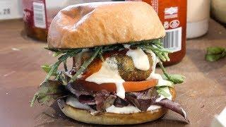 Seaweed Burger Tasted in London, Old Spitalfieds Market. Street Food