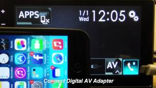 Pioneer: SPH-DA120 How to connect iPhone 5/5s/5c/6/6+ for AppRadio Mode
