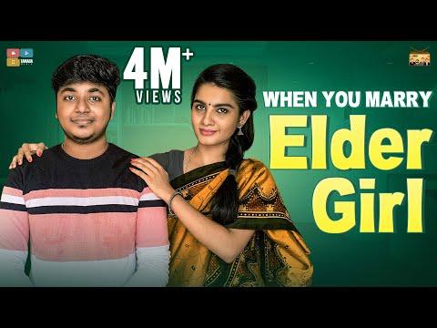 When you marry Elder Girl | #StayHome Create #Withme | Narikootam | Tamada Media
