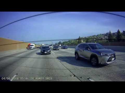 Rear View Dash Cam Auto Truck Accident - April 6 2018