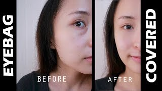 How To Cover Eyebags & Dark Circles With Makeup  | No Photoshop!