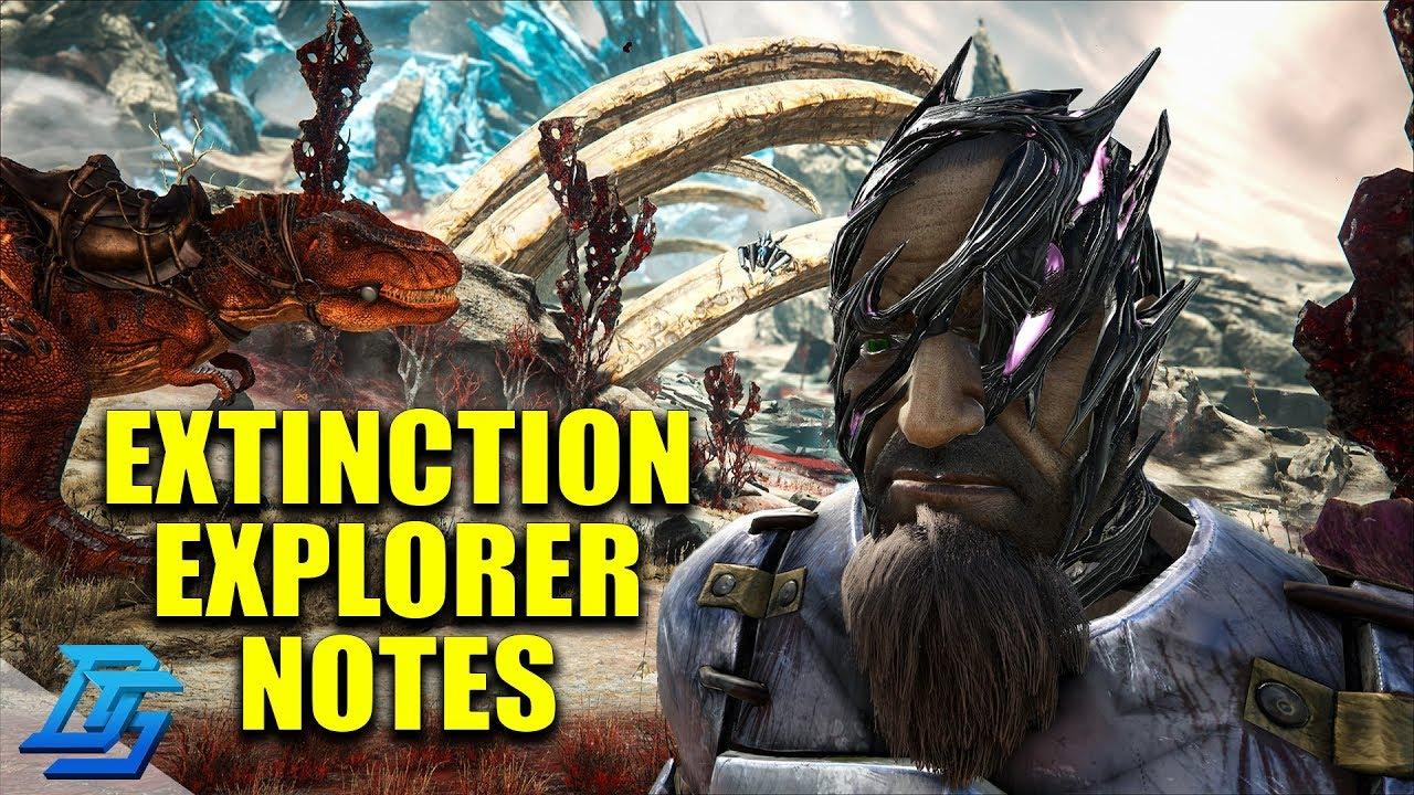 How To Get Corrupted Helmet, Ark Extinction Explorer Notes Locations - Ark  Survival Evolved