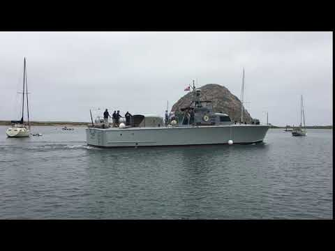 Arrival of WWII P-520 Crash Boat for Independence Week in Morro Bay, CA Peaks Patriot Pride