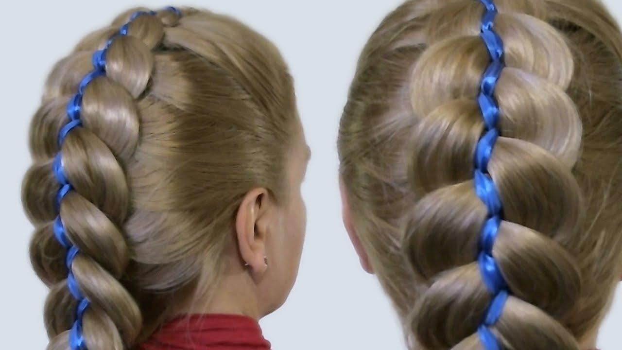 плетение кос на челке схема